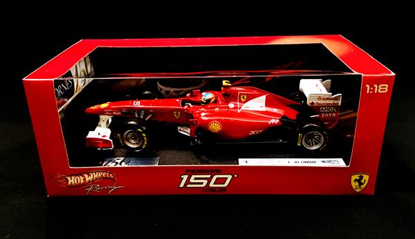 マテル 1/18 コーンズ別注 フェラーリ F150 F.アロンソ コーンズ150周年記念 限定モデル