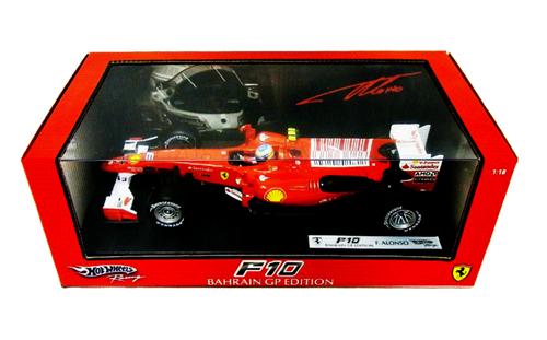 【SALE】マテル 1/18 フェラーリ F10 アロンソ 2010本戦モデル(並行輸入品)