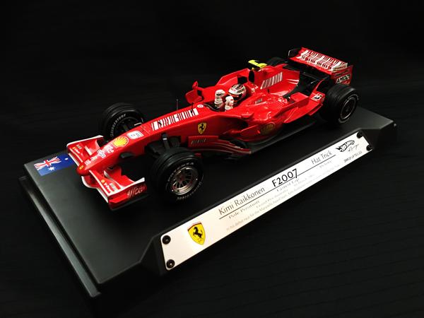 マテル 1/18 フェラーリ F2007 K.ライコネン 2007年オーストラリアGP ハットトリック 当店オリジナルバーコードモデル