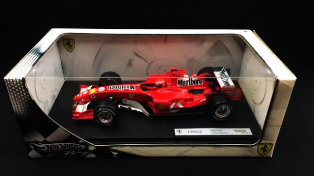 マテル 1/18 フェラーリ F2005 M.シューマッハ 当店オリジナルタバコロゴモデル