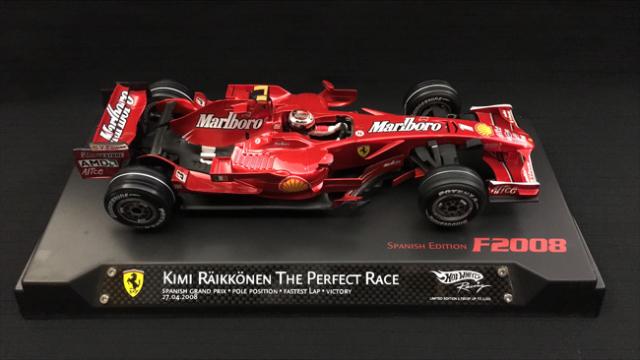 マテル 1/18 フェラーリ F2008 K.ライコネン 2008年スペインGPハットトリック 当店オリジナル幻のタバコロゴモデル