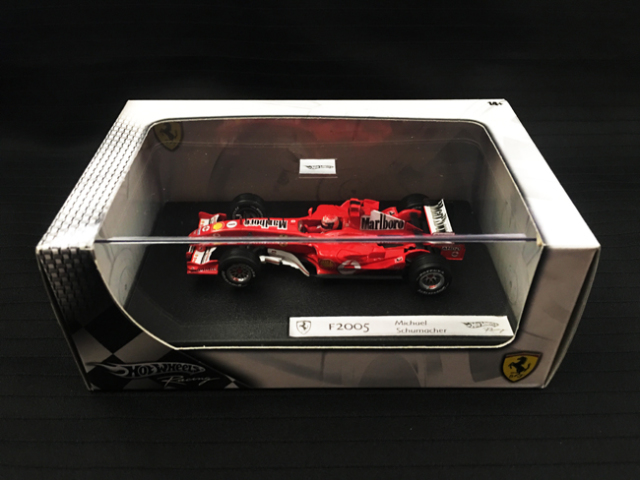 マテル 1/43 フェラーリ F2005 M.シューマッハ 当店オリジナルタバコロゴモデル