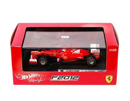 マテル 1/43 フェラーリ F2012 F.アロンソ 2012