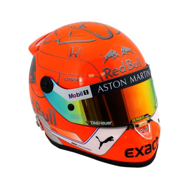 M.フェルスタッペン 2019 ASTON MARTIN REDBULL RACING レッドブル  1/2 ヘルメット(ベルギーGPver)