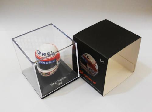 F1ショップ グランプリ別注 スパーク 1/8   中嶋 悟ヘルメットコレクション 第1弾 1987年仕様