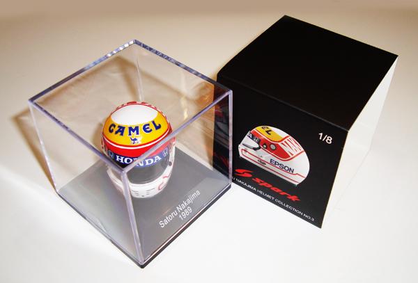 F1ショップ グランプリ別注 スパーク 1/8   中嶋 悟ヘルメットコレクション 第3弾 1989年仕様