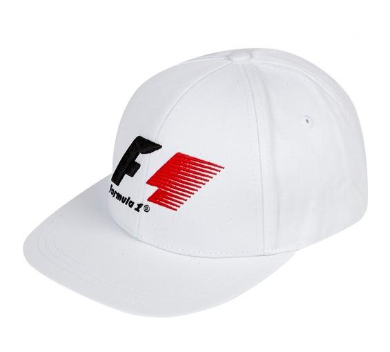 【SALE】Formula 1(F1旧ロゴ)フラットキャップ ホワイト
