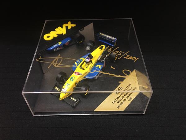【サマーSALE】ニコラス・ミナシアン 直筆サイン入 ONYX 1/43 ダラーラ F397 ニコラス・ミナシアン 1997 イギリスF3