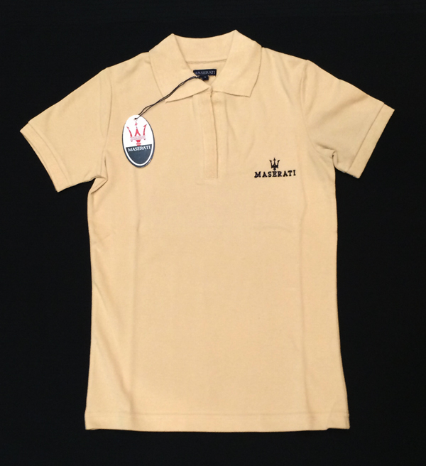 マセラティ レディース ポロシャツ ベージュ (サイズS)