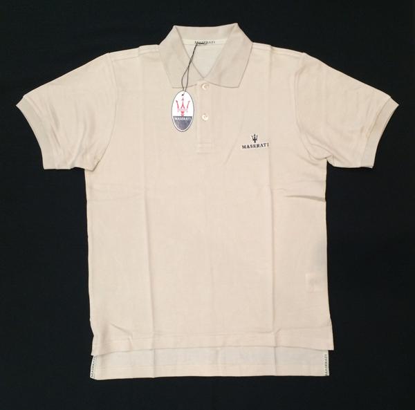 マセラティ エクスクルーシブ メンズポロシャツ ライトベージュ(日本サイズL)