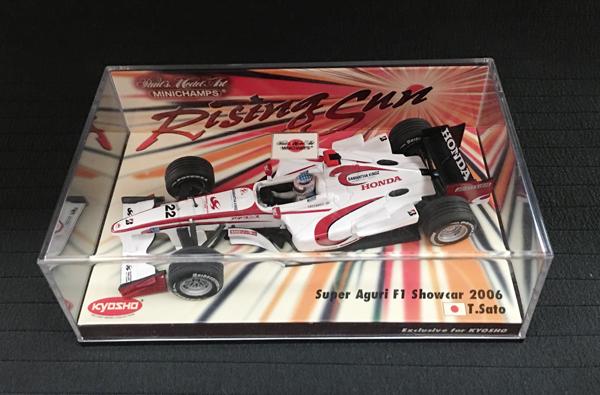 ミニチャンプス 1/43 スーパーアグリ 2006ショーカー 佐藤琢磨 ライジングサン台紙