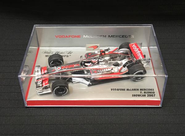 ミニチャンプス 1/43 マクラーレン 2007ショーカー F.アロンソ チーム別注ボックス
