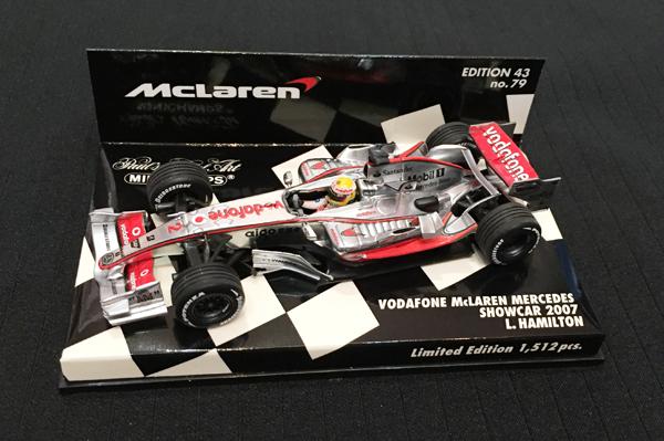 ミニチャンプス 1/43 マクラーレン 2007ショーカー L.ハミルトン