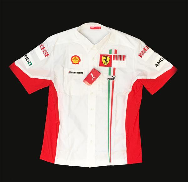 2007 フェラーリ チーム支給品 ピットシャツ バーコードバージョン 新品タグ付 サイズL PUMA製