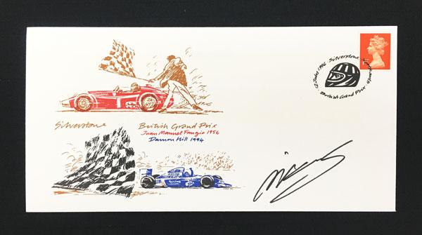 ミカ・サロ 直筆サイン入切手 1996年 イギリスGP開催記念  シルバーストン郵便局発行 限定75枚発行初日カバー