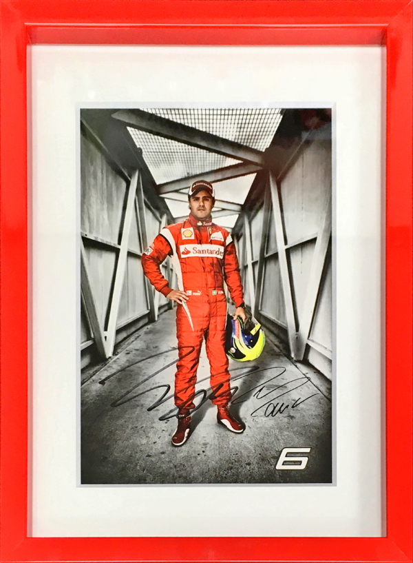 F.マッサ 直筆サイン入り フェラーリ2011年ドライバーズカード(額装品)