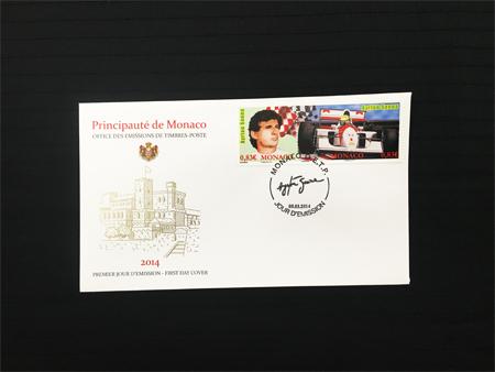 モナコ政府 2014年発行 アイルトン・セナ 追悼記念切手 初日カバー(FDC)