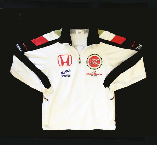 HONDA ホンダ  F1 TEAM 2006 チーム 支給品  フルZIPフリース USED メンズサイズS