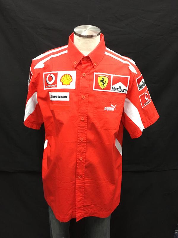 2005年 フェラーリ チーム支給品 PITシャツ マルボロ USED サイズL