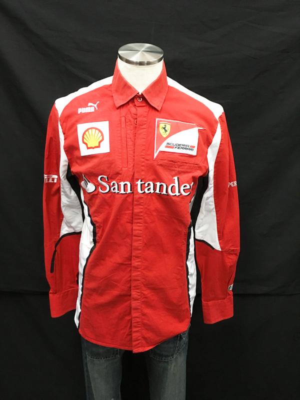 2012年 フェラーリ チーム支給品 PITシャツ 長袖 USED 使用感かなりあり USED サイズS