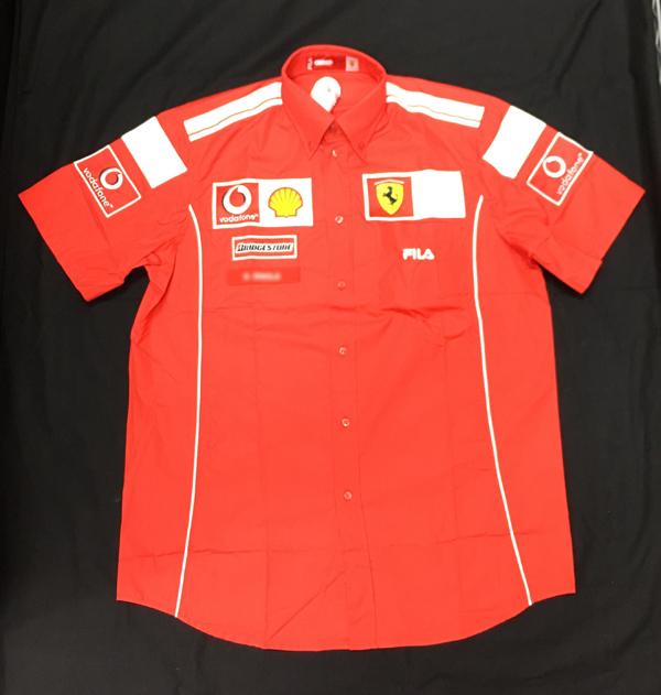 【SALE】2004 フェラーリ チーム支給品 PITシャツ 新品ノンタバコ サイズL