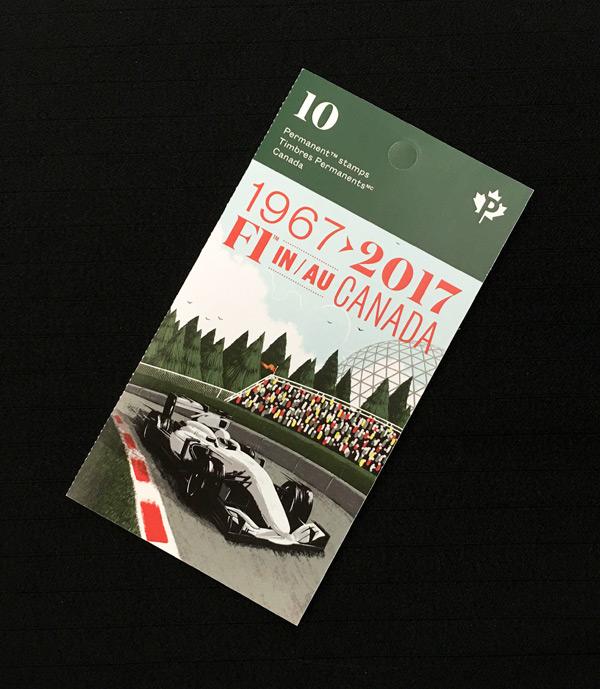 2017年 F1 カナダGP 開催40周年記念 切手セット  10枚組