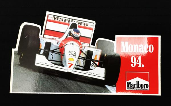 モナコ グランプリ 1994年 マールボロ プロモーションステッカー