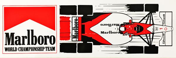 マクラーレン ホンダ 1989年 マルボロ プロモーションステッカー