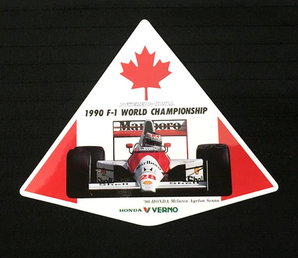 マクラーレン ホンダ 1990年 カナダGP ホンダベルノ プロモーションステッカー