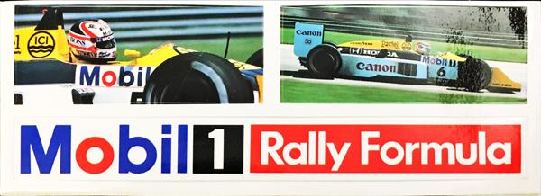 モービル Mobil 1 1987年 ウィリアムズ ホンダ HONDA プロモーションステッカーセット