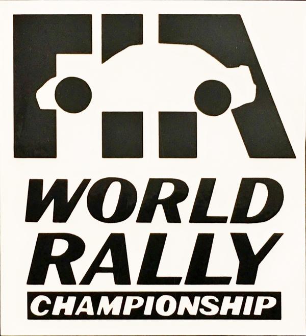 FIA ワールドラリー 1990年代ロゴ カッティングステッカー