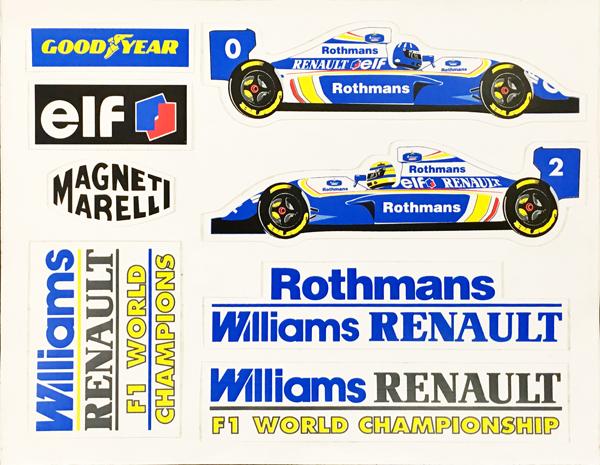 ロスマンズ ウィリアムズ 1994年 セナ&ヒル ステッカーセット