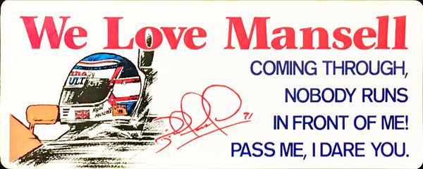 マンセル WE LOVE MANSELL ステッカー