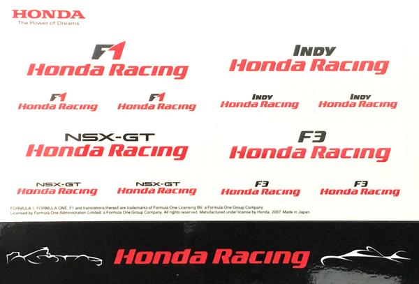 HONDA ホンダ  各レースカテゴリー プロモーションステッカーセット