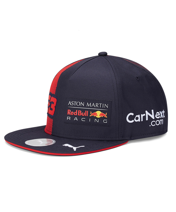 【追加入荷】2020 PUMA ASTON MARTIN REDBULL RACING レッドブル・ホンダ M.フェルスタッペン ドライバーズキャップ フラットタイプ