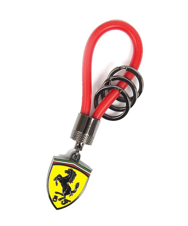 フェラーリ SF ラバーストラップ キーホルダー レッド