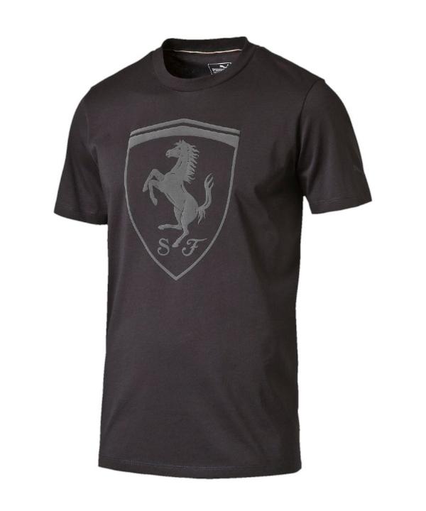 PUMA FERRARI フェラーリ LS ビッグシールド Tシャツ ブラック
