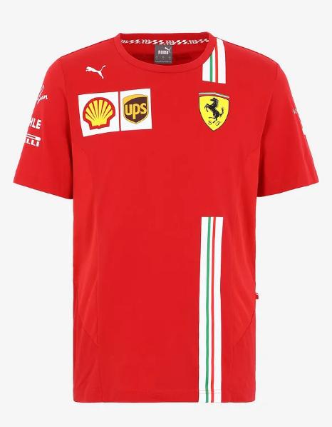 PUMA FERRARI 2021SS フェラーリ ドライバーズレプリカ Tシャツ C.ルクレール