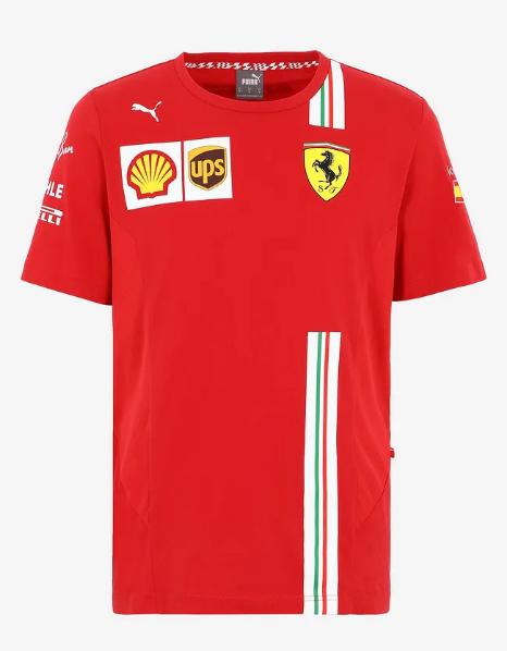 PUMA FERRARI 2021SS フェラーリ ドライバーズレプリカ Tシャツ C.サインツJr