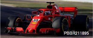【MINICHAMPS Exclusive BBR(PBBR211895)2021年10月以降順次発売予定ご予約商品4/23締切】 1/18 フェラーリ SF71H C.サインツJr. フィオラノ 1月テスト 2021 予価:税込¥37400