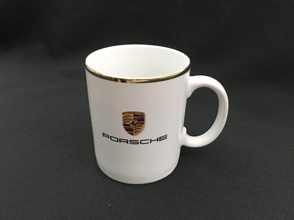ポルシェ クレスト ロゴ マグカップ サイズ 高さ9cm 直径7.5cm