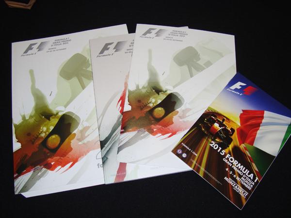 F1公式プログラム 2015年イタリアGP(メディアキット付)