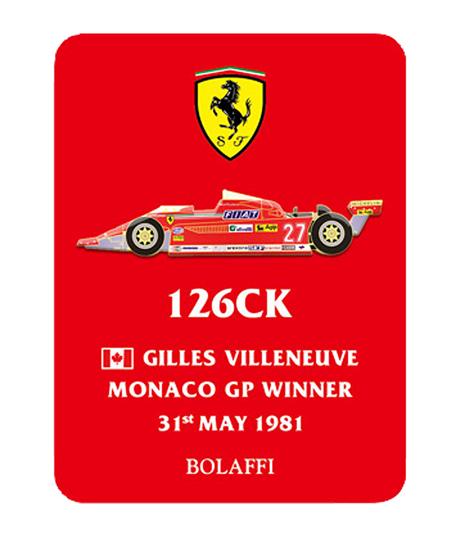 BOLAFFI フェラーリ126CK J.ビルニューブ 1981年モナコGPウィナー ピンバッチ