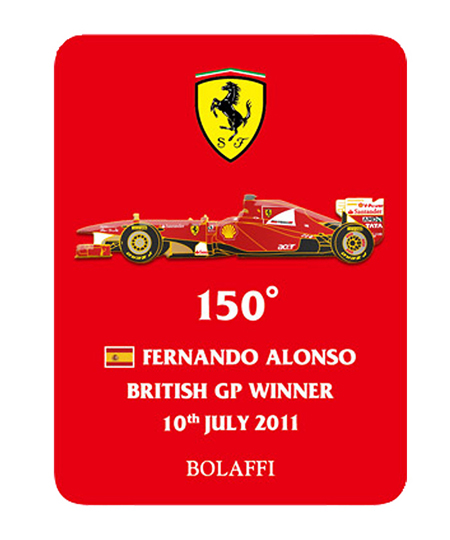 BOLAFFI フェラーリ F150° F.アロンソ 2011年イギリスGPウィナー ピンバッチ
