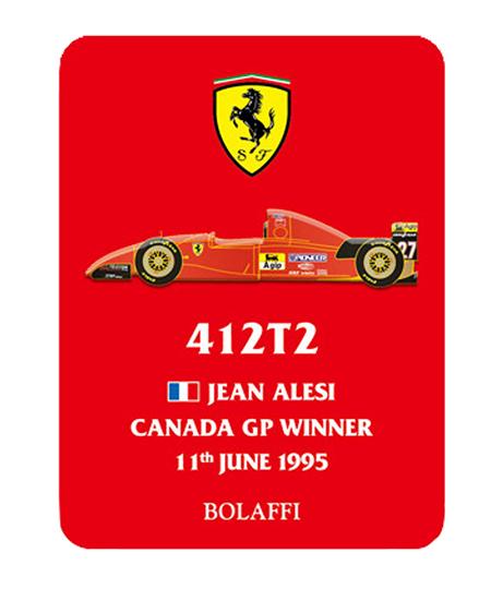 BOLAFFI フェラーリ412T2 J.アレジ 1995年カナダGPウィナー ピンバッチ