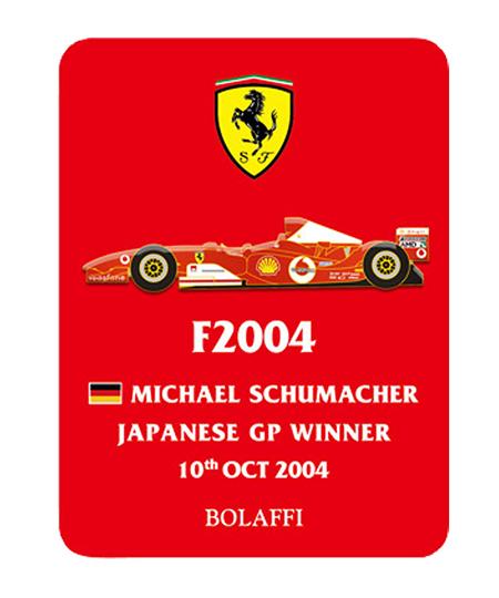BOLAFFI フェラーリF2004 M.シューマッハ 2004年日本GP ピンバッチ