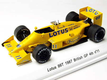 レーヴコレクション 1/43 ロータス HONDA ホンダ 99T 中嶋悟  No.11 1987イギリスGP4位