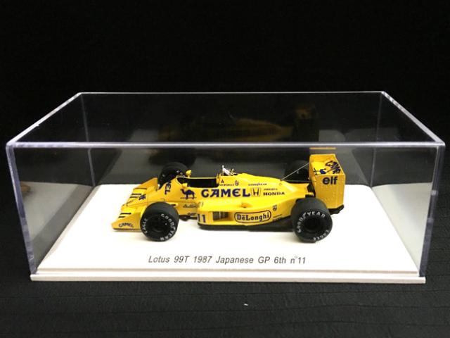【再入荷】レーヴコレクション 1/43 ロータス ホンダ 99T 中嶋悟 1987年日本GP6位 ノンドライバー 当店オリジナルタバコロゴモデル