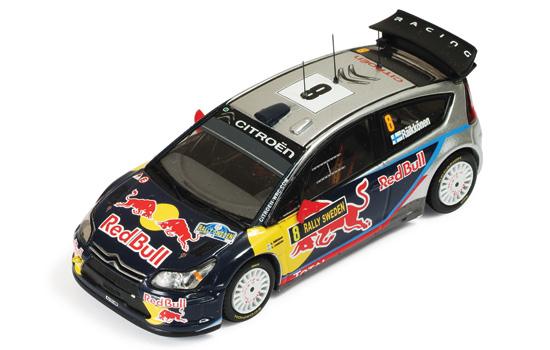IXO(イクソ) 1/43 シトロエンC4 K.ライコネン WRC世界選手権 2010年スエーデンラリー No.8