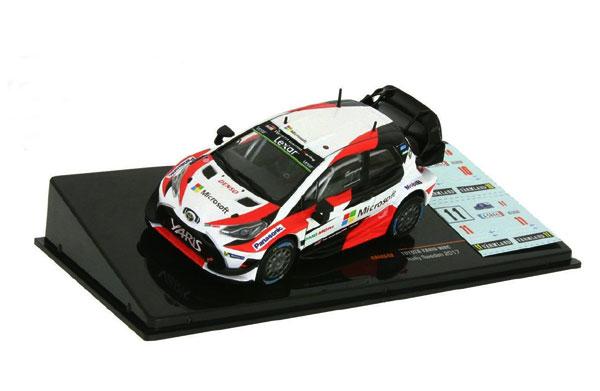 IXO(イクソ)1/43 TOYOTA ヤリス WRC J-M.ラトバラ-M.アンティラ (No.10) & J.ハンニネン-K.リンドストローム(No.11)  2017年ラリースェーデン(NO.10とNO.11の2種類のデカール付属)